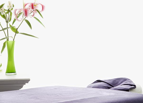 Foto van een massagetafel - Optimassage: massages op locatie voor bedrijven en particulieren